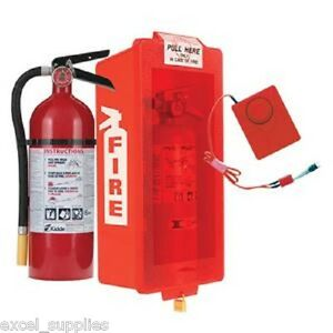 Fxbnd1b 5 Lb Kidde Abc Fire Extinguisher 466112k Bundle W Cabinet W Alarm