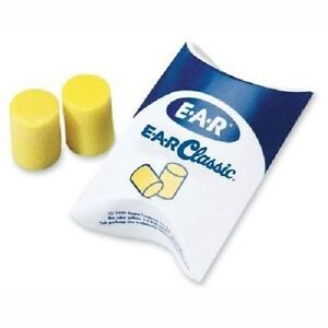3m 310 1001 E a r Classic Uncorded Earplugs Hearing Conservation In Pillow Pack