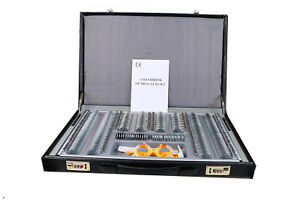 266 Optical Optometry Trial Lens Set Metal Rim Leather Case Free Trial Frame