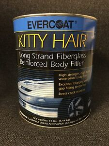 Evercoat Kitty Hair Long Strand Reinforced Fiberglass Body Filler gallon fib 869