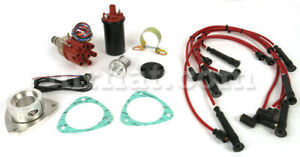 Fiat Dino 2000 2400 Fully Electronic Distributor W Coil Plug Lead Set New