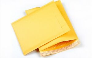 500 00 5x10 Kraft Paper Bubble Padded Mailers Envelopes Case Supplies 5 x10