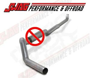 01 07 Duramax Diamond Eye Straight Piped 5 Down Pipe Back Aluminized Exhaust