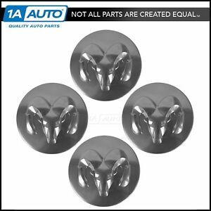 Oem 5290814aa Wheel Hub Center Cap Cover Silver Set Of 4 For Dodge New