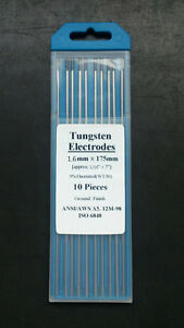 10 Pcs Of 1 16 7 1 6 175mm purple Wt30 3 thoriated Tungsten Tig Electrode