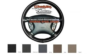 Dodge Leather Steering Wheel Cover Genuine Cowhide 5 Color Options Wheelskins