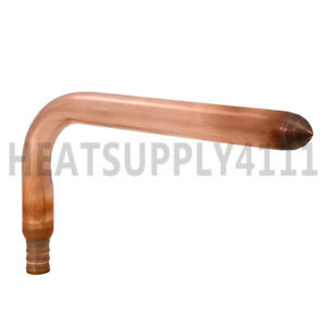 50 Copper Stub Out Elbow For 1 2 Pex Tubing 3 1 2 X 8