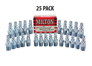 25 Pieces Milton 777 A Style Air Hose Fittings 1 4 Male Npt Coupler Plugs
