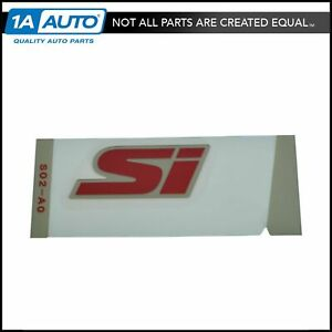 Oem 75723 s02 a11zb Trunk Lid Mounted Si Logo Emblem Nameplate For Honda Civic