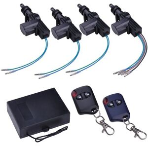 Universal 4 Door Car Central Power Door Lock Unlock Remote Kit 2 Keyless Entry