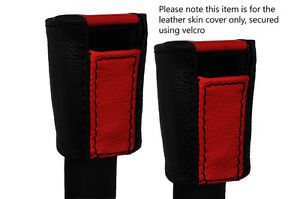 Black Red 2x Front Seat Belt Stalk Leather Covers Fits Porsche 924 944 1975 1991
