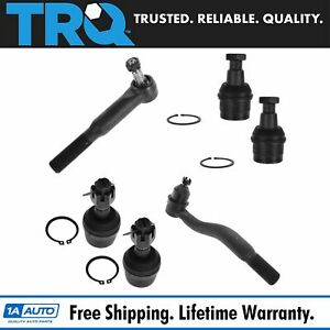 Ball Joint Upper Lower Kit W Tie Rod End Set For Ford Super Duty Truck New