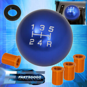 Shifter M10x1 5 5 Speed Ball Gear Shift Knob Threaded Set Light Weight Blue