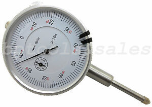 1 Dial Indicator High Precision 0 001 Graduation Travel Lug Back White Face