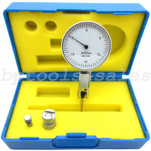 0 03 Dial Test Indicator High Precision 0 0005 Graduation 0 15 0 White Face