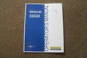 Operator s Manual For New Holland 330gm 3pt Finishing Mowers 87758961