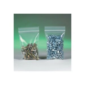 500 Reclosable Reusable Ziplock Jewelry Plastic Clear Poly Bags 12x18 Pb3890