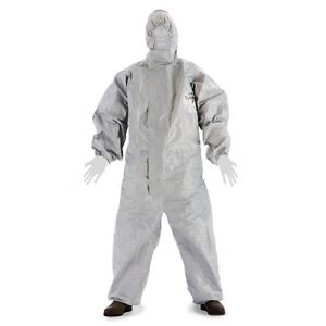Dupont Tyvek Tychem 2t431 Cpf2 Hooded Chemical Hazmat Coverall Suit Elastic M 4x