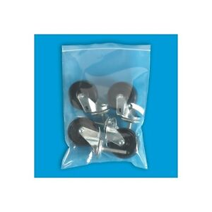 500 Reclosable Reusable Ziplock Jewelry Plastic Clear Poly Bags 12x15 Pb3921