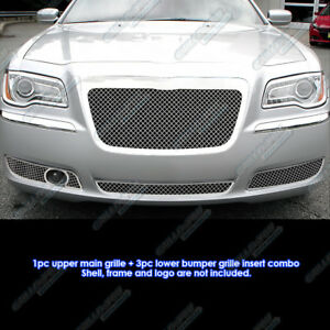 Custom Fits 2011 2012 Chrysler 300 300c With Adaptive Cruise Mesh Grill Combo