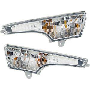 Turn Signal Light For 2013 2016 Nissan Altima Plastic Lens Left Right Set Of 2