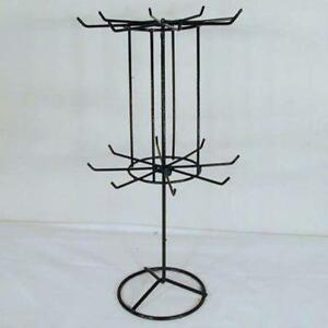 2 Black 16 Inch Spinning Display Jewelry Rack Counter Displays Toy Novelties New