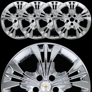 4 Chrome 2014 2017 Chevrolet Impala Lt 18 Wheel Skins Full Rim Covers Hub Caps
