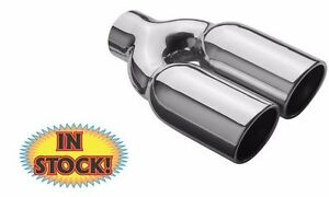 Magnaflow 35168 Exhaust Tip Dual Round Angle Cut 2 1 4 Polished