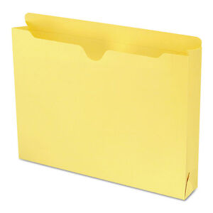 Smead Colored File Jackets W reinforced Double ply Tab Letter Yellow 50 box