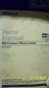 Cat 906 Compact Wheel Loader Parts Manual