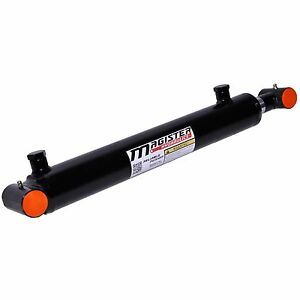 Hydraulic Cylinder Welded Double Acting 2 Bore 14 Stroke Cross Tube 2x14 New