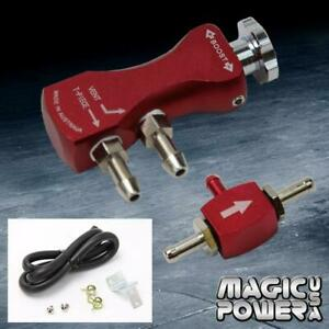 Universal Adjustable Racing Turbo 30 Psi Manual Boost Bypass Controller Red