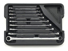 Gearwrench 85998 Sae Xl Gearbox Double Box Ratcheting Wrench Set 9 Pc