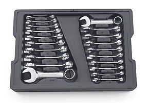 Gearwrench 81903 Sae Metric Stubby Combination Wrench Set 20 Pc