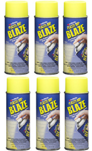Performix Plasti Dip 11222 Blaze Yellow Spray Rubber Spray 6 Pack