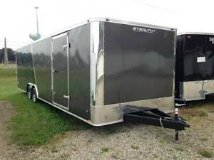 New 10k 28ft Enclosed Race Trailer Heavy Duty Fully Loaded