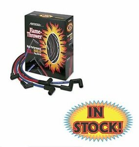 Flame Thrower Spark Plug Wire Set W 45 Deg Ends 8mm Red Pertronix 808415