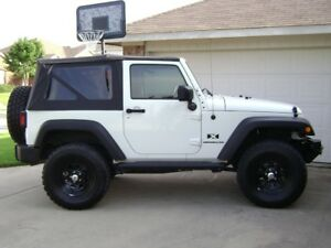 2007 2009 For Jeep Wrangler 2 door Replacement Soft Top Tinted Rear Windows