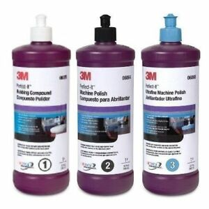 3m Perfect it Buffing Polishing Compound Kit 06064 06068 06085