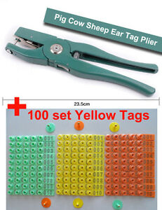 Ear Tag Plier Of Sheep Pig Cattle Cow Animals Ear Plier 100 Set Ear Tag 001 100