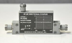 Microwave Filter Company Rf 40db Directional Coupler 950 1250 Mhz 30d warranty