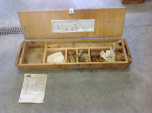 Case Otc 380040095 960 Trencher Axle Service Tool Kit New In Wooden Box