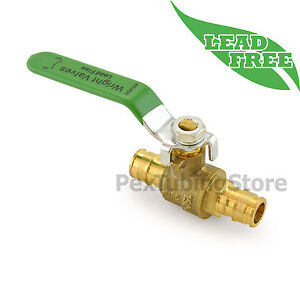 10 1 2 Propex Style expansion Lead free Brass Ball Valves For Pex a f1960