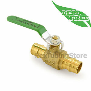 10 3 4 Propex Style expansion Lead free Brass Ball Valves For Pex a f1960