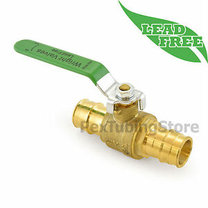 10 1 Propex expansion Style Lead free Brass Ball Valve For Pex a f1960