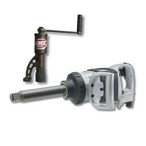 Ingersoll Rand 1 Heavy duty Extended Anvil Pneumatic Impact Wrench W free Nut B