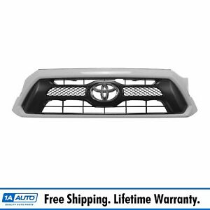 Oem Sport Grill With Emblem Super White Paint Code 040 Finish For Toyota Tacoma