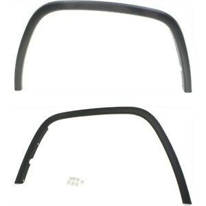Fender Flares Set For 2011 2017 Jeep Grand Cherokee Front Black Plastic 2pc