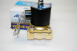 Electric Solenoid Valve Water Air N c Ac110v Pipe Size 3 4 Normally Close 411