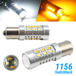 High Power 1156 Dual Color White Amber Switchback Led Turn Signal Light Bulbs